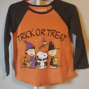 CHARLIE BROWN TRICK OR TREAT HALLOWEEN SHIRT 2T